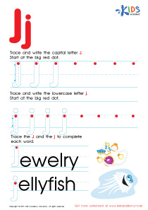 Letter J worksheets