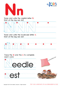 ABC Alphabet Worksheets | Letter N Tracing PDF