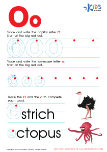 ABC Alphabet Worksheets | Letter O Tracing PDF