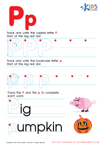 ABC Alphabet Worksheets | Letter P Tracing PDF