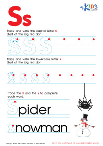 ABC Alphabet Worksheets | Letter S Tracing PDF