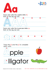 math worksheet : tracing a  alphabet worksheets  kids academy : Abc Worksheets For Kindergarten
