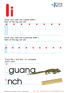 ABC Alphabet Worksheets | Letter I Tracing PDF