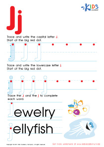 ABC Alphabet Worksheets | Letter J Tracing PDF
