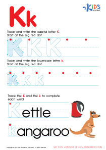 ABC Alphabet Worksheets | Letter K Tracing PDF