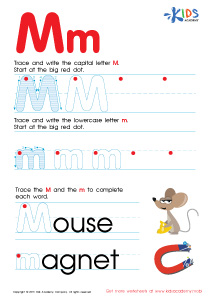 ABC Alphabet Worksheets | Letter M Tracing PDF