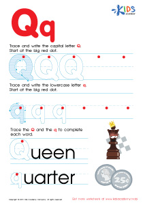 ABC Alphabet Worksheets | Letter Q Tracing PDF