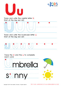 math worksheet : tracing u  tracing alphabet with kids  kids academy : Letter U Worksheets For Kindergarten