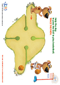 Printable PDF Mazes For Kids: Basketball Player