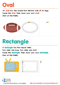 Geometric Shapes for Kids: Easy Drawing of Ovals And Rectangles PDF