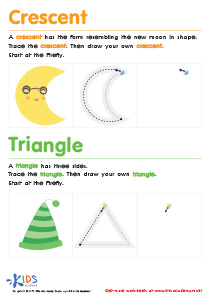Geometric Shapes for Kids: Learning to Draw Crescents And Triangles PDF