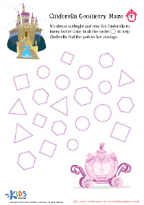 Fairy Tale Worksheet: Cinderella Geometry Maze