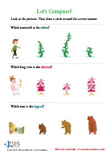 Fairy Tale Worksheet: Let's Compare