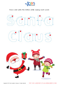 Tracing Winter Words: Santa Claus